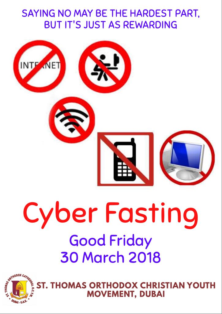 Join with us for Cyber Fast on Good Friday