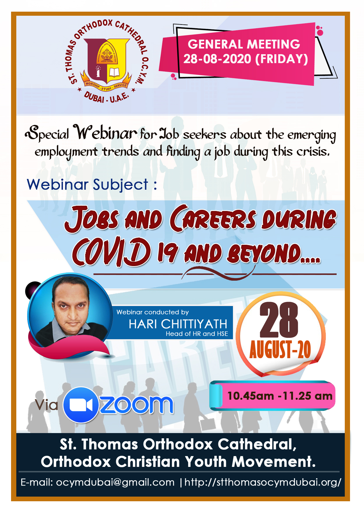 Webinar  : Jobs and Careers during COVID 19 and beyond എന്ന വിഷയത്തിൽ